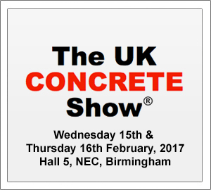 Come and see us on Stand G3 - UK Concrete Show 2017